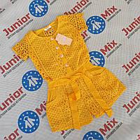 Детские летние джинсовые комбинезоны  для девочек оптом ИТАЛИЯ, фото 1