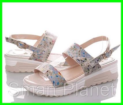 Женские Сандалии Босоножки Летняя Обувь на Танкетке Платформа (размеры: 37), фото 2