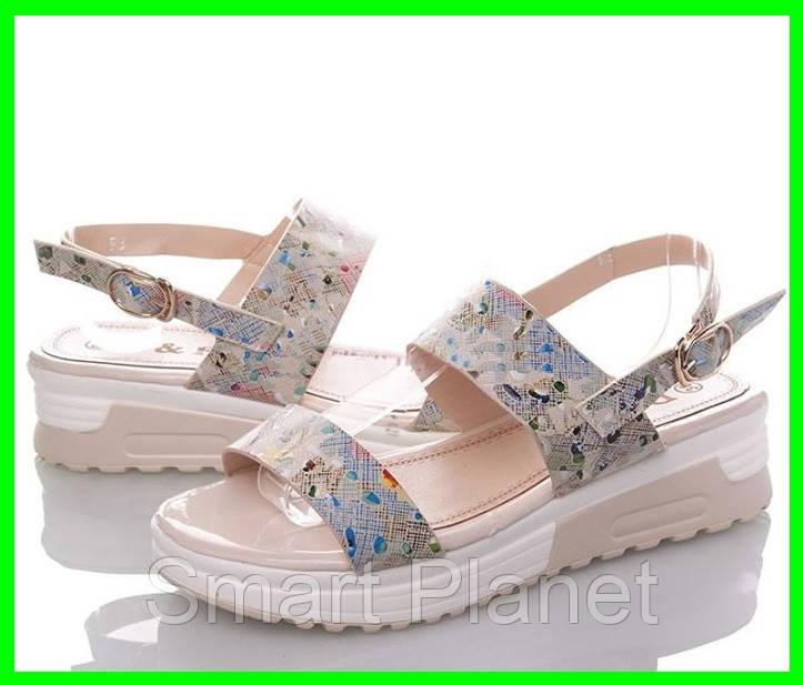 Женские Сандалии Босоножки Летняя Обувь на Танкетке Платформа (размеры: 37)