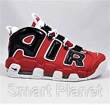 Кроссовки N!ke Air More Uptempo Красные с Чёрным Найк (размеры: 39) Видео Обзор, фото 2