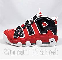 Кроссовки N!ke Air More Uptempo Красные с Чёрным Найк (размеры: 39) Видео Обзор, фото 3