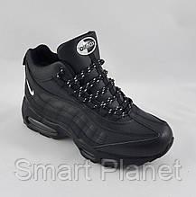 Кроссовки N!ke Air Max 95 ЗИМА-МЕХ Чёрные Ботинки Найк (размеры: 46) Видео Обзор, фото 3