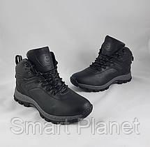 Ботинки ЗИМНИЕ Мужские Чёрные Кроссовки МЕХ (размеры: 41,43,44,46) Видео Обзор, фото 2