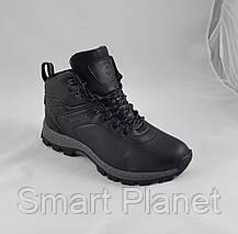 Ботинки ЗИМНИЕ Мужские Чёрные Кроссовки МЕХ (размеры: 41,43,44,46) Видео Обзор, фото 3