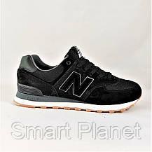 Мужские Кроссовки New Balance 574 Чёрные (размеры: 45) Видео Обзор, фото 2