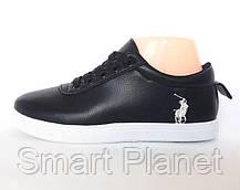 Женские Кроссовки Polo Чёрные Мокасины (размеры: 36), фото 3