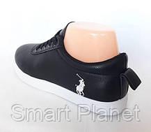 Женские Кроссовки Polo Чёрные Мокасины (размеры: 36), фото 2