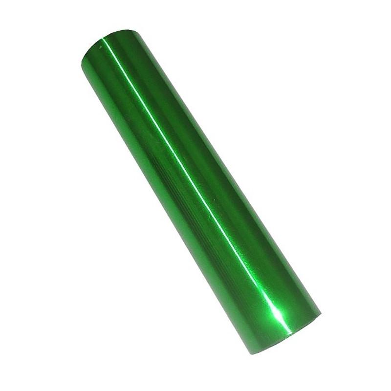 Фольга для ламинирования Зеленый глянець, Шир. 210мм, намотка 61м. Crown Roll Leaf Цвет №21