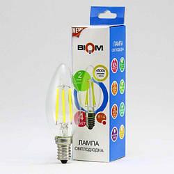 Світлодіодна лампа Biom FL-306 C37 4W E14 4500K