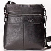 Мужская сумка на плече Armani черного цвета
