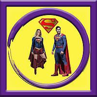 Аніматори Супермен і Супергел на дитячому святі у Києві