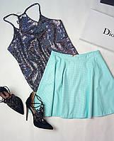 Женская юбка с эко кожи Poliit 1020