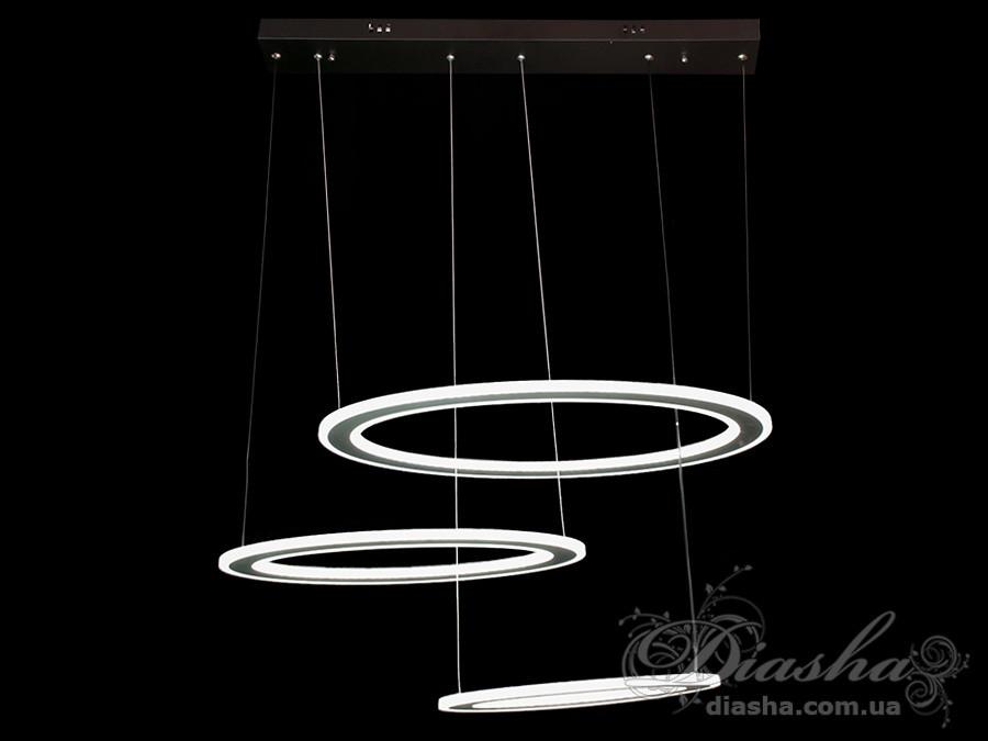 Современная светодиодная люстра, 155W&7165/3BK