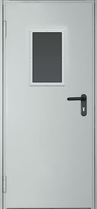 Противопожарная дверь огнестойкая EI 30 2050 х 860/960 + окно 400*300