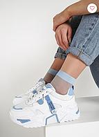 Белые кроссовки на платформе, фото 1