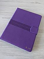 Чехол книжка Only для планшета 10 - 10.1 дюймов Универсальные с тиснением Фиолетовый