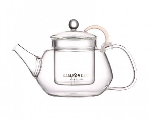 Чайник заварочный стеклянный Kamjove, 900 мл