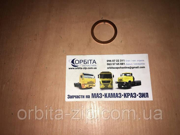 Шайба (кольцо) медное 12x18x1,5 уплотнительное (Украина)