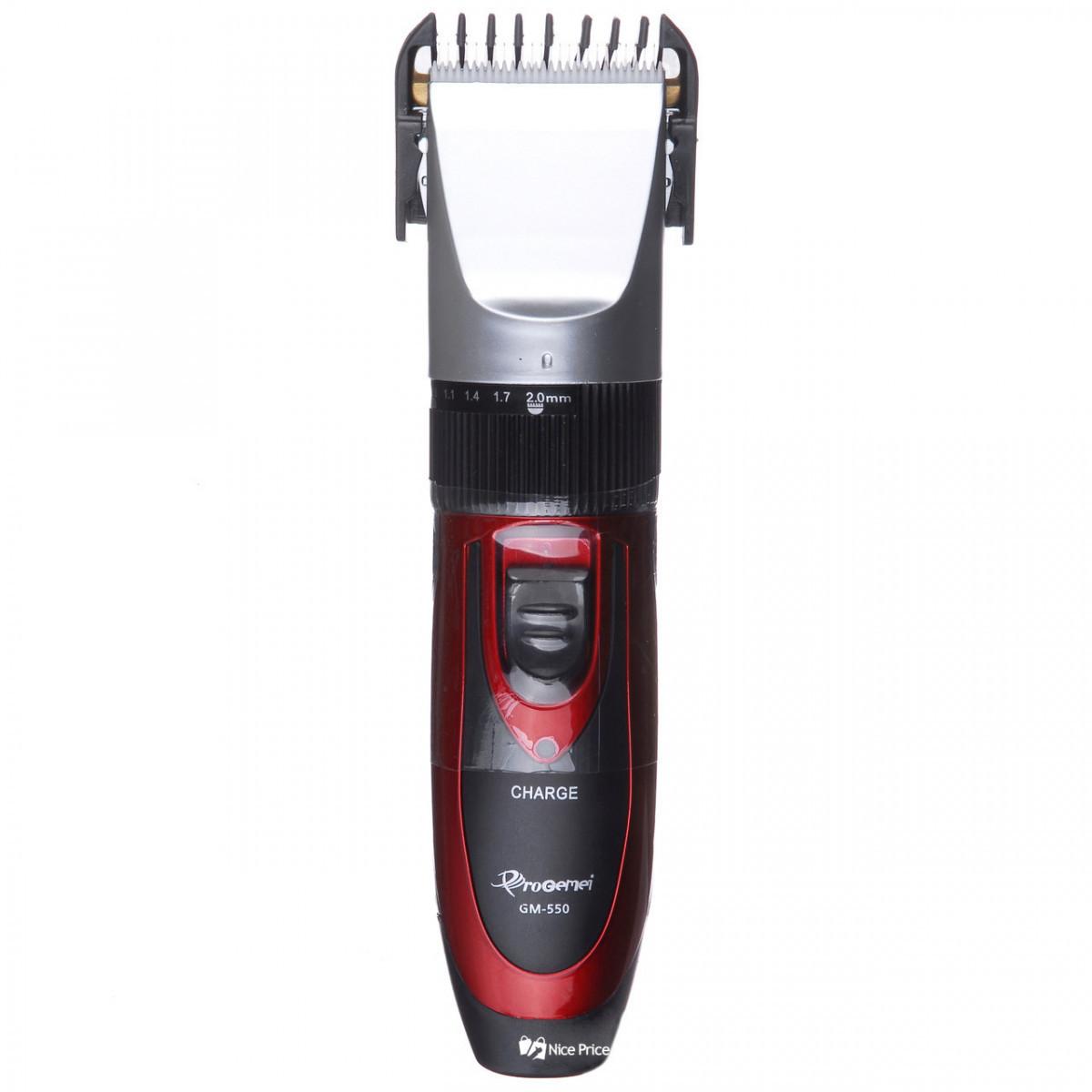 Беспроводная машинка для стрижки волос с двумя аккумуляторами Gemei GM 550 #S/O