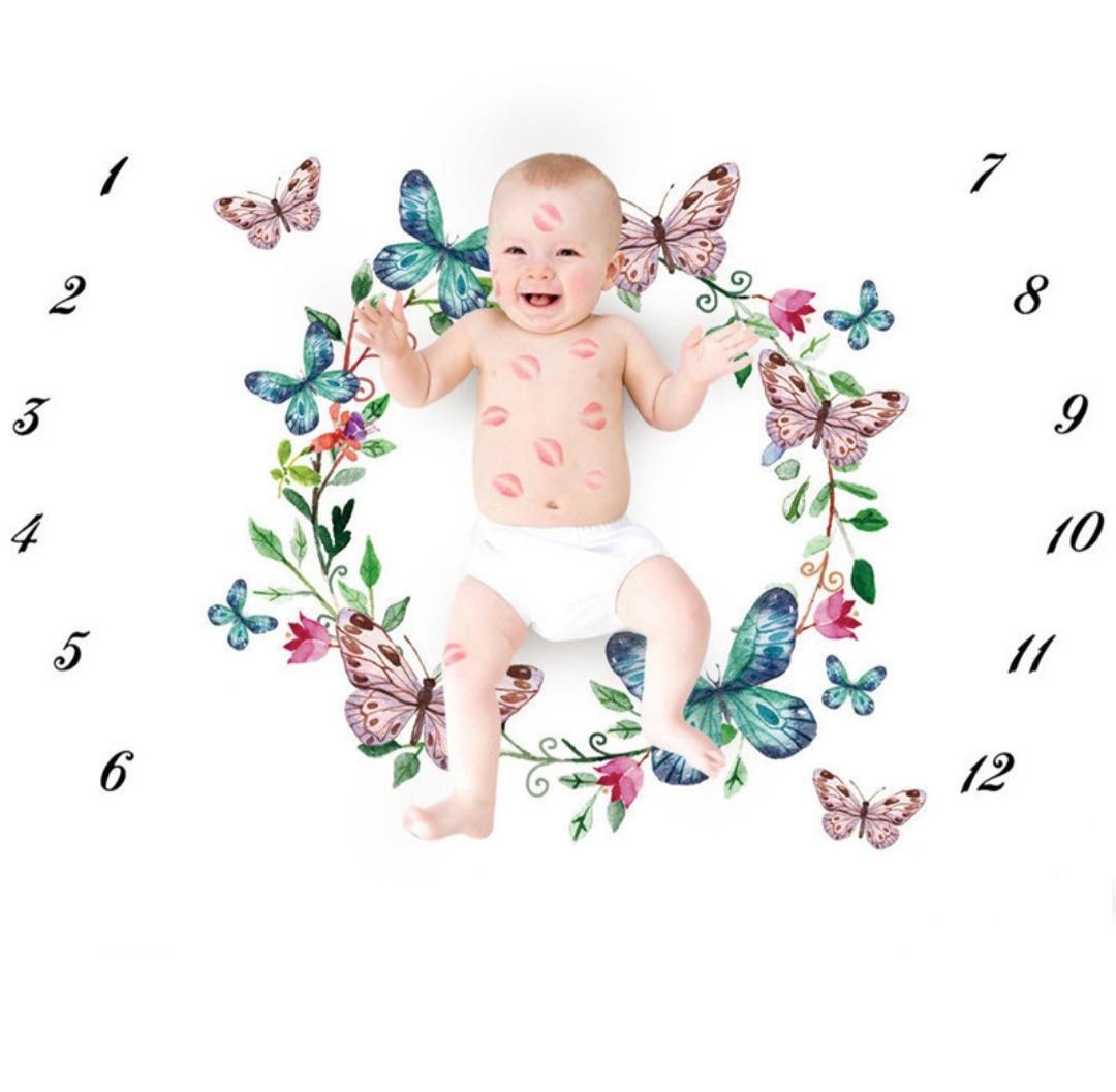 Пелёнка для фотосессий для новорождённого по месяцам 08