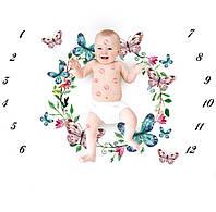 Фотофон, фото пеленка для новорожденного по месяцам