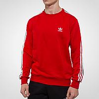 Свитшот мужской красный Adidas, кофта спортивная Адидас