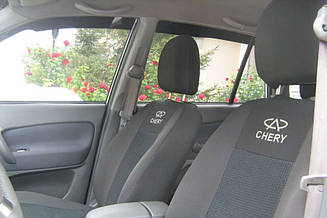 Чехлы на сидения Chery Eastar (седан) (2003-2013) в салон (Favorit)