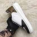 Louis Vuitton Sneakers Brown White, фото 3