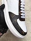Louis Vuitton Sneakers Brown White, фото 5