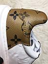 Louis Vuitton Sneakers Brown White, фото 9