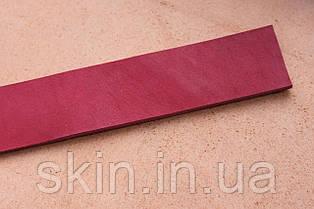 Полоса кожи хромового дубления красного цвета, толщина 3.5 мм, арт. СК 1734