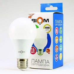Світлодіодна лампа Biom BT-515 A65 15W E27 3000К матова
