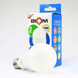 Світлодіодна лампа Biom BT-516 A65 15W E27 4500К матова