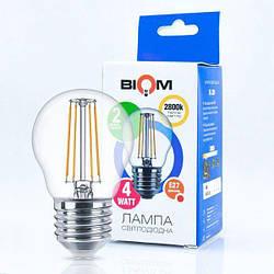 Світлодіодна лампа Biom FL-301 G45 4W E27 3000K