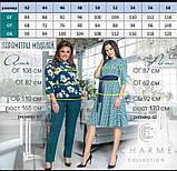 Женское платье нарядное приталенное креп дайвинг+гипюр на сетке рукав сеткой размер: 48-50, 52-54, 56-58, фото 5