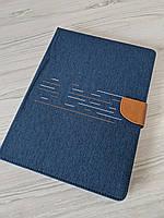 Чехол книжка Jeans 360 для планшета 10 - 10.1 дюймов Универсальные поворотный Темно-синий