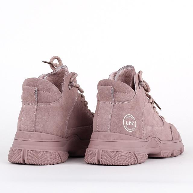 Натуральные замшевые женские ботинки Lonza F99303-3 PINK ZAMSHA ВЕСНА 2020 /// FC99303-3 pink весна 2020