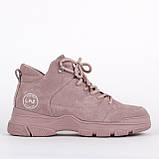 Натуральные замшевые женские ботинки Lonza F99303-3 PINK ZAMSHA ВЕСНА 2020 /// FC99303-3 pink весна 2020, фото 2