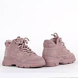 Натуральные замшевые женские ботинки Lonza F99303-3 PINK ZAMSHA ВЕСНА 2020 /// FC99303-3 pink весна 2020, фото 3