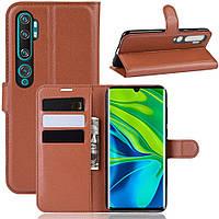 Чехол-книжка Litchie Wallet для Xiaomi Mi Note 10 / Mi Note 10 Pro / CC9 Pro Brown