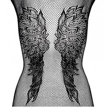 Сеточка с рисунком крыльями Katty комбинезон прозрачный, фото 3