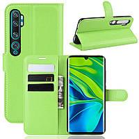 Чехол-книжка Litchie Wallet для Xiaomi Mi Note 10 / Mi Note 10 Pro / CC9 Pro Green