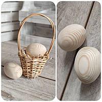 Яйця дерев'яні - заготовки для писанок, для крашенок, 2 шт.,  вис. 6 см., 16 грн.