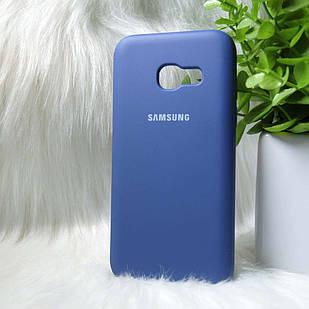 Силіконовий чохол Original Silicone case Samsung A320 Blue (синій)