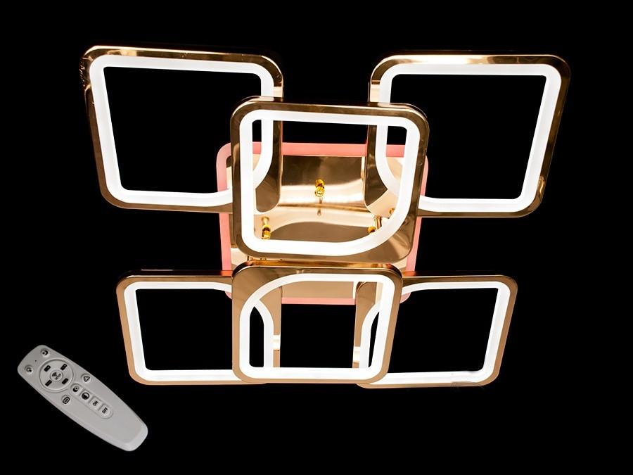 Потолочная люстра с диммером и LED подсветкой цвет золото 180W