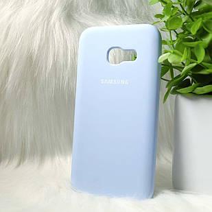 Силіконовий чохол Original Silicone case Samsung A320 light blue (світло-синій)