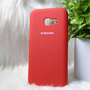Силиконовый чехол Original Silicone case Samsung A320 / A3 2017 Red (красный)