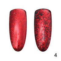 Втирка для ногтей, Хлопья Юки Global Fashion, красный HY-4