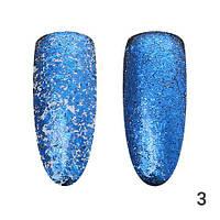 Втирка для ногтей, Хлопья Юки Global Fashion, синий HY-3