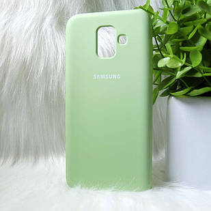 Чехол Samsung A600 A6 2018 зеленый
